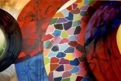 01 THE LAST PART 1 2011 96 X 54 SPRAY PAINT ON CANVAS - ORIGINAL ARTWORK BY CHOR BOOGIE