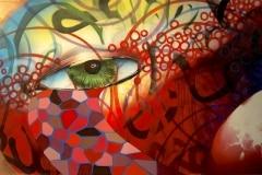 04 GOETHE'S PART 4 2011 96X54 SPRAY PAINT ON CANVAS - ORIGINAL ARTWORK BY CHOR BOOGIE