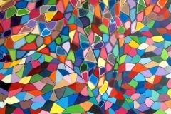 CHURCH 2 2011 60X60 SPRAY PAINT ON CANVAS - ORIGINAL ARTWORK BY CHOR BOOGIE