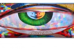 EYES OF SAN FRANCISCO 2010 10FT X 150FT - ORIGINAL ARTWORK BY CHOR BOOGIE