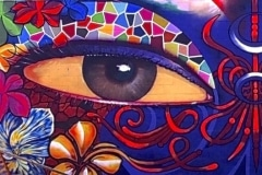 THE EYES OF HAWAII 2013 15FT X 25FT - ORIGINAL ARTWORK BY CHOR BOOGIE