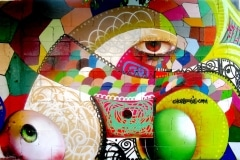 THE EYES OF TIJUANA 2008 10FT X 12FT - ORIGINAL ARTWORK BY CHOR BOOGIE