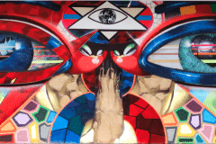 THE EYES OF MIAMI PART 3 -THE KING AND EYE 2016 10FT X 20FT - ORIGINAL ARTWORK BY CHOR BOOGIE
