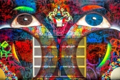 THE EYES OF PUERTO RICO 2013 20FT X 25FT - ORIGINAL ARTWORK BY CHOR BOOGIE
