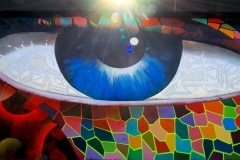THE EYE OF MIAMI 2010 12FT X 120FT - ORIGINAL ARTWORK BY CHOR BOOGIE