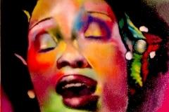 THE JAZZ QUEEN 2006 16X20 SPRAY PAINT ON CANVAS - ORIGINAL ARTWORK BY CHOR BOOGIE