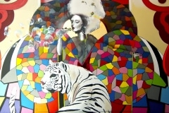 THE SILVER QUEENS TIGERBLOOD 2013 10FT X 10FT SAN FRANCISCO CA. - ORIGINAL ARTWORK BY CHOR BOOGIE