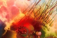 HEAVENS EMPRESS 2009 24X36 SPRAY PAINT ON CANVAS - ORIGINAL ARTWORK BY CHOR BOOGIE