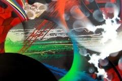 HOPE 2011 24X36 SPRAY PAINT ON CANVAS - ORIGINAL ARTWORK BY CHOR BOOGIE