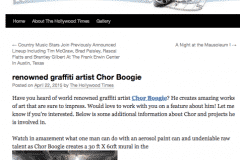 HOLLYWOOD TIMES 1 | CHOR BOOGIE ART