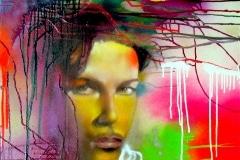 PRINCE 2008 20X24 SPRAY PAINT ON CANVAS - ORIGINAL ARTWORK BY CHOR BOOGIE