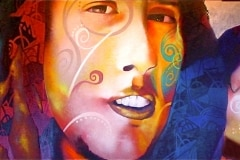 RAGE 2007 60X180 SPRAY PAINT ON CANVAS - ORIGINAL ARTWORK BY CHOR BOOGIE