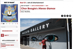 MIAMI NEW TIMES BEST MURAL 2016 | CHOR BOOGIE ART