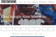 STREETART NEWS 1 | CHOR BOOGIE ART