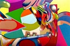 ALLTHATJAZZ 2009 10FT X 12FT - ORIGINAL ARTWORK BY CHOR BOOGIE