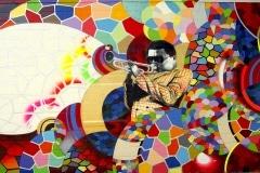 OMAHA JAZZ 2012 20FTX 40FT - ORIGINAL ARTWORK BY CHOR BOOGIE