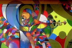 ON THE LEDGE 2011 10FT X 20FT - ORIGINAL ARTWORK BY CHOR BOOGIE