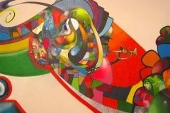 ORPHAN BLUES 2005 8FT X 8FT - ORIGINAL ARTWORK BY CHOR BOOGIE