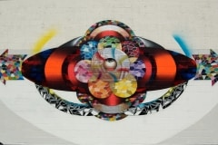 CIRCLE OF LIFE 15FT X 40FT 2014 SAN DIEGO-ORIGINAL ARTWORK BY CHOR BOOGIE
