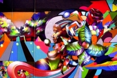 COLOR OF MY SOUL 2006 12FT X12FT SAN FRANCISCO CA. - ORIGINAL ARTWORK BY CHOR BOOGIE