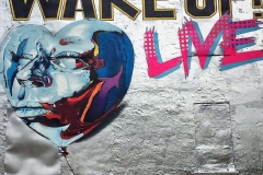 WAKE UP LIVE 25FT X 20FT ART BASEL MIAMI- ORIGINAL ARTWORK BY CHOR BOOGIE