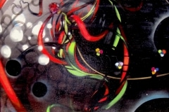 COLOR OF DARKNESS 2012 36X36 SPRAY PAINT ON CANVAS - ORIGINAL ARTWORK BY CHOR BOOGIE