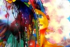 DO I LOVE U 2008 36X48 SPRAY PAINT ON CANVAS - ORIGINAL ARTWORK BY CHOR BOOGIE
