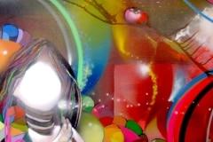 I WISH 2009 36X36 SPRAY PAINT ON CANVAS - ORIGINAL ARTWORK BY CHOR BOOGIE