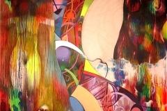 THE TEMPTRESS 2008 84X96 SPRAY PAINT ON CANVAS - ORIGINAL ARTWORK BY CHOR BOOGIE