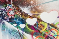 BASSE`LOVE 2014 48X60 SPRAY PAINT ON CANVAS - ORIGINAL ARTWORK BY CHOR BOOGIE