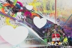 ILOVEU 2014 48X60 SPRAY PAINT ON CANVAS - ORIGINAL ARTWORK BY CHOR BOOGIE