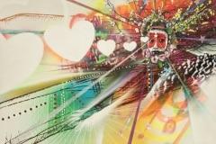 LOVE DANCE 2014 48X72 SPRAY PAINT ON CANVAS - ORIGINAL ARTWORK BY CHOR BOOGIE