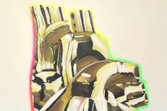 THE GOLDEN HEART 48X60 2020 SPRAY PAINT ON CANVAS-ORIGINAL ARTWORK BY CHOR BOOGIE