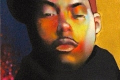 NASTY NAS 2008 16X20 SPRAY PAINT ON CANVAS - ORIGINAL ARTWORK BY CHOR BOOGIE