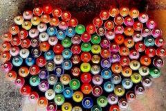 MODERN HIEROGLYPHICSLOVE 2014 SPRAY CAN - ORIGINAL ARTWORK BY CHOR BOOGIE