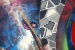 GREY SERPANT 2013 40X60 SPRAY PAINT ON CANVAS - ORIGINAL ARTWORK BY CHOR BOOGIE
