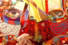 THE VISION PART 15 MELANCHOLY 2008 48X60 SPRAY PAINT ON CANVAS - ORIGINAL ARTWORK BY CHOR BOOGIE