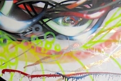 THE VISION PART 16 PRETENTIOUS POSSIBILITY 2010 40X60 SPRAY PAINT ON CANVAS - ORIGINAL ARTWORK BY CHOR BOOGIE