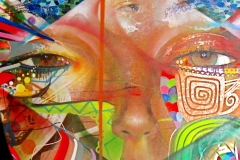 THE VISION PART 1 MY LIGHT 2008 60X180 SPRAY PAINT ON CANVAS - ORIGINAL ARTWORK BY CHOR BOOGIE