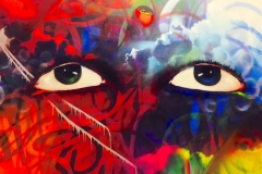 THE VISION PART 4 HIGHLIGHT 2013 48X60 SPRAY PAINT ON CANVAS - ORIGINAL ARTWORK BY CHOR BOOGIE