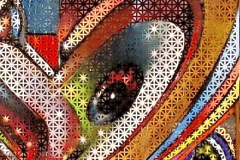 THE VISION PART 7 ORGASM 2005 24X36 SPRAY PAINT ON METAL - ORIGINAL ARTWORK BY CHOR BOOGIE