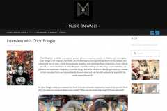 MUSIC ON WALLS 1 | CHOR BOOGIE ART