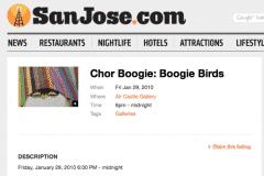 SAN JOSE.COM 1 | CHOR BOOGIE ART