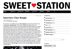 SWEETSTATION 1 | CHOR BOOGIE ART