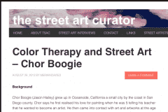 THE STREETART CURATOR 1 | CHOR BOOGIE ART