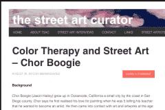 THE STREETART CURATOR 1 | CHOR BOOGIE ART