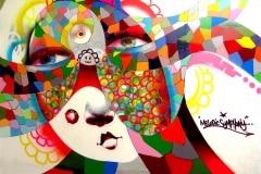 MODERN HIEROGLYPHICS- MELODIC SYMPHONY 2008 10FT X 12FT VISTA CA. - ORIGINAL ARTWORK BY CHOR BOOGIE