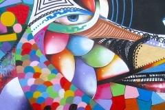 MODERN HIEROGLYPHICS- THRASH 2009 8FT X 15FT - SAO PAULO BRAZIL - ORIGINAL ARTWORK BY CHOR BOOGIE